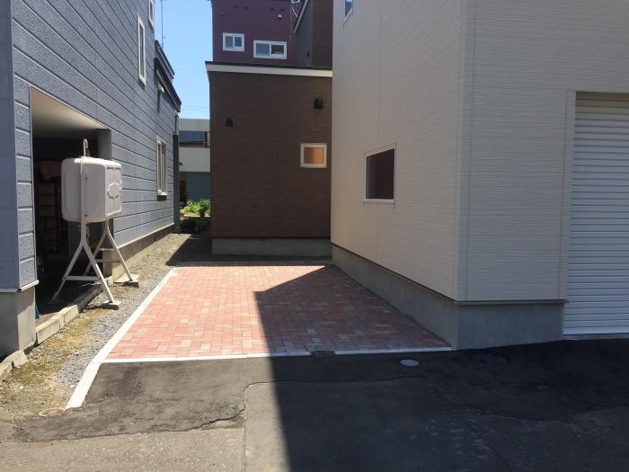東区H様邸新築インターロッキング工事完成写真