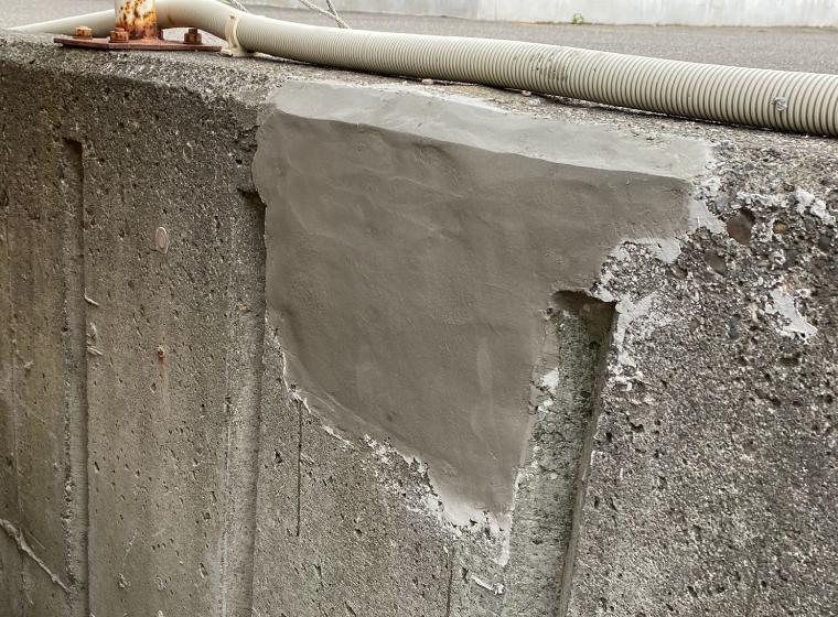擁壁を補修した完了写真