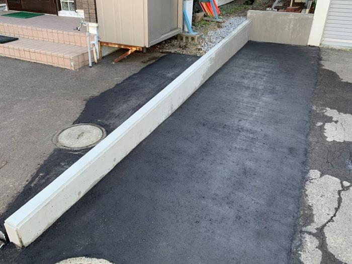 札幌市、土留め擁壁の完成写真その1
