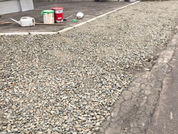 北広島市M様邸陥没復旧アスファルト補修。埋戻し後の写真