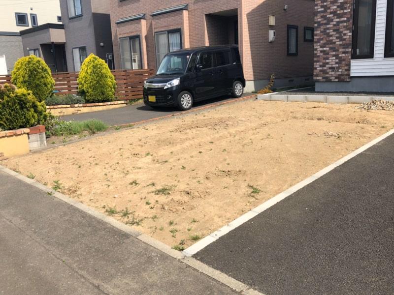 札幌市北区屯田、駐車場増設工事の施工前写真その1