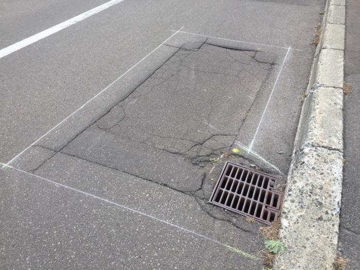 車道部、桝周りアスファルト補修工事の写真その2
